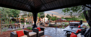 Casa Bella Sonoma stone patio and gazebo