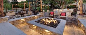 Casa Bella Sonoma exterior stone patio and fire pit